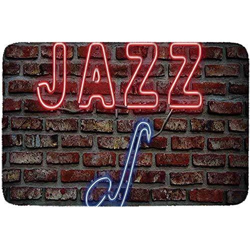 YAGEAD-Musik-einfaches Haustier-Bett, Bild des anziehenden Neons All Jazz Sign mit Saxophon-Instrument auf dem Backsteinmauer-Druck dekorativ