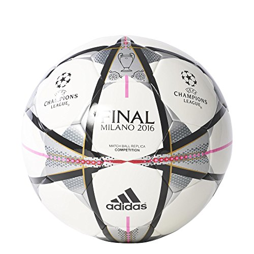 adidas Final Milano Comp - Balón para hombre, color blanco / negro, talla 4