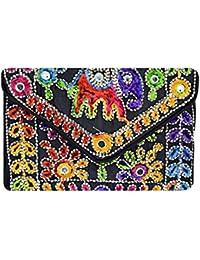 Women's Embordierd Multi Coloured Shoulder Bag/Traditional Bag/Jhola/Jaipuri Rajsthani BagWomen Rajasthani Gujarati... - B079P56S38