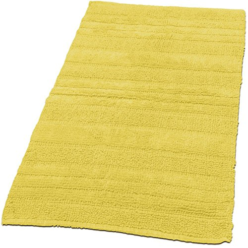 Paco Home Badematten Badezimmermatte Badteppiche Baumwolle in Uni versch. Farben u. Größen, Farbe:Gelb, Grösse:50x55 cm