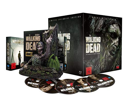 The Walking Dead - Die komplette vierte Staffel - UNCUT & EXTENDED  - Tree-Walker Box - limitiert [Blu-ray] Uncut-box