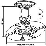 MyWall H16-1L Deckenhalterung Beamer, Deckenabstand 225mm, schwenkbar: 360°, neigbar: 180°, silber