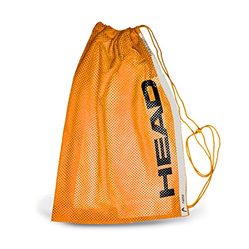 HEAD Training Mesh Bag Unisex, Unisex, Schwarz/Orange, Einheitsgröße
