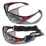 Ladgecom Sonnenbrille Ski Brille Fahrradbrille Damen Herren Rot