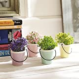 #9: Tayhaa Set of 4 Artificial Stylish Plants with Bucket Style Pot