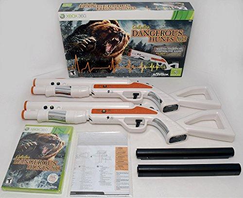 XBox 360 Cabela's Dangerous Hunts 2013 2-GUN Bundle Jagdspiel Top Shot Fearmaster (Bundle 360 Xbox Spiel)