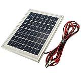 LaDicha 12V 5W 25,5 X 19 X 1.5 Cm Celle Policristalline Pannello Solare Con Alligatore Clip Wire