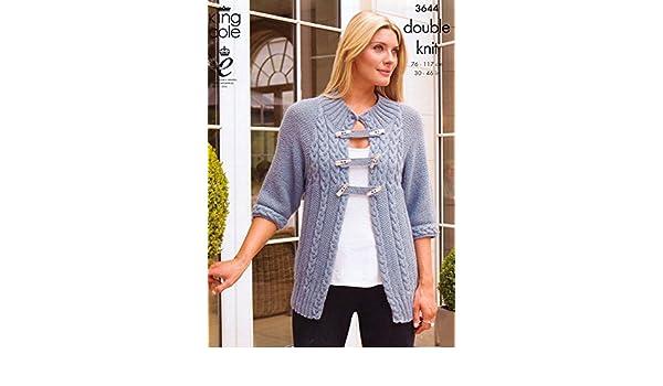 83347aa17 King Cole DK Pattern - 3644 Ladies Cardigan   Sweater 76-117cm (30 ...