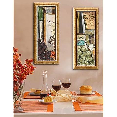 e-HOME capítulo de la lona de arte, las uvas y el vino enmarcado de ajuste de impresión de la lona de