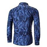 Binggong Herren Shirt, Jugend-stetiger Baumwolle der Männer Einfaches Retro- Wilder Sommer-Polyester-Mode-dünnes beiläufiges Geschäfts-Dunkles Druck-Mode-Trend-Langarm-T-Shirt