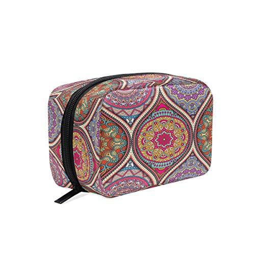 Vintage Mandalas - Neceser de maquillaje con elementos decorativos, neceser de cosméticos, neceser de aseo, bolsa de viaje para mujer, organizador portátil, bolsa de almacenamiento, caja de bolsas