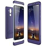 Huawei Mate 9 Hülle Hardcase 3 in 1 Handyhülle Ultra-dünne Anti-Scratch-Harte PC Matte Schutz 360 Grad Ganzkörper Schützende dünne Stoßstange Telefon Glatte Case Cover (Blau, Mate 9)