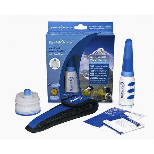 SteriPEN UV Wasserentkeimer im Taschenformat Mit Pre-filter Classic With Bundle Pack, weiß und blau, SPPF-RP-GF