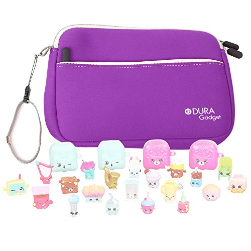 Price comparison product image Purple Neoprene Case Cover with Front Storage Pocket for the Shopkins S5 Mega Pack - by DURAGADGET