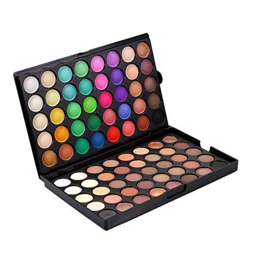 MagiDeal Women Pro Eye Makeup 80 Assorted Colors Cosmetic Eyeshadow Matte Shimmer Eye Shadow Palette Makeup Set Kit Cosmetic Accs
