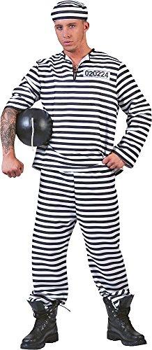 Sträfling Kostüm für Herren Gr. (Kostüme Gefangener Herren)