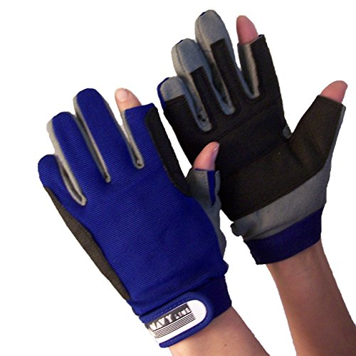 Navyline Segelhandschuhe Amara Kunstleder Aramid 2 Finger frei, Größe:S