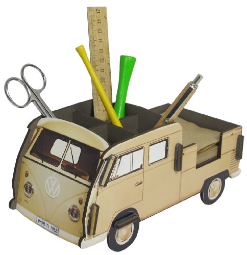 Werkhaus Stiftebox VW Bus Doppelkabine beige