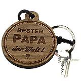 Lieblingsmensch Schlüsselanhänger aus Holz - Modell: Bester Papa