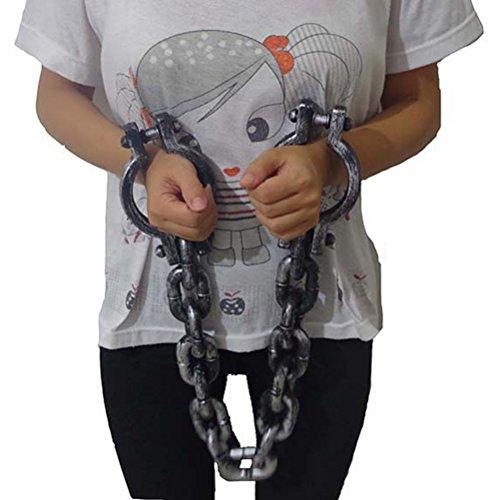 BESTOYARD Halloween Kunststoff Gefangenen Requisiten Criminal Pretend Play Requisiten Cosplay Schauspiel Requisiten Halloween Kostüme - Handschellen