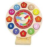 Bambini Giocattolo di Legno Clock, Imparare a Leggere l'ora, Insegnare Clock Ragazzo jumini ®
