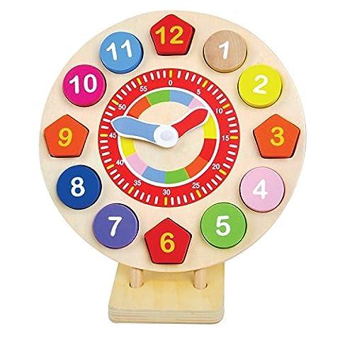 Jumini ® - Horloge en bois - jouet pour enfant