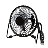 #9: Metal Series Mini USB Fan, 360 Degree Rotate
