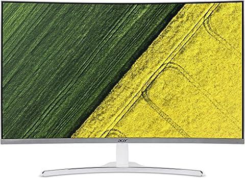 Acer ED322Q 81cm (32 Zoll Full HD) Curved Monitor (VGA, DVI, HDMI, 4ms Reaktionszeit, Full HD Auflösung, 1920 x 1080) silber