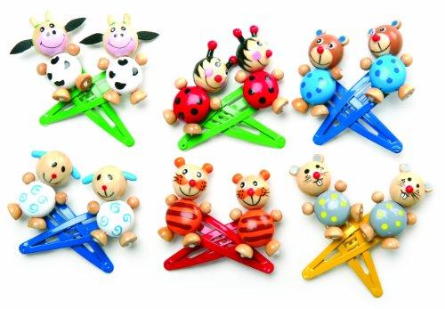 Kostüm Fledermaus Haar - Small Foot Company 7348 - Haarspangen Tiere, 7-er Set