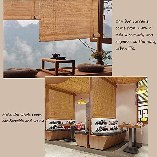 Natürliche Bambusrollos, Raffrollos, orientalische Möbel, Sonnenschutz für den Innen- und Außenbalkon, 24 W x 36 H, alle Größen von 20 bis 72 Zoll breit, 24 bis 72 Zoll hoch (Tür-fenster-vorhang-24 X 36)