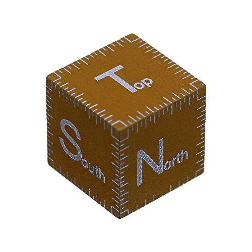 Digital Photo Cube (Fotodiox Scale-Cube-Bnz Metall-Skala Cube Objekt mit Laser geätzte Richtung Markierungen (TNSEW) für Macro/Meteorite Photography 1cm bronze)