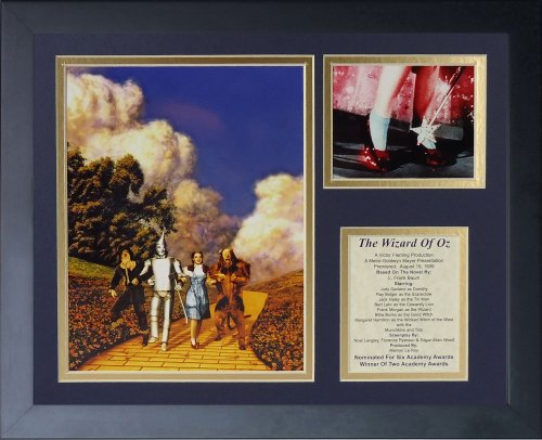 Price comparison product image Legends Never Die Wizard of Oz Yellow Brick Road Framed Photo Collage, 11x14-Inch