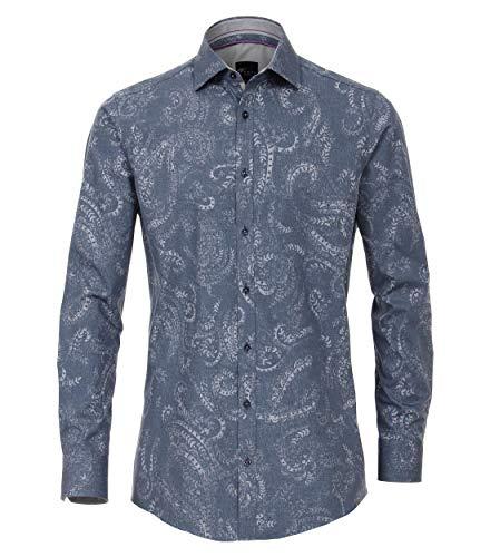 Venti Herren Hemd mit modischem Druck Slim Fit