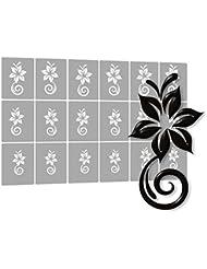 18 Airbrush-Schablonen für Nailart selbstklebend für Naildesign
