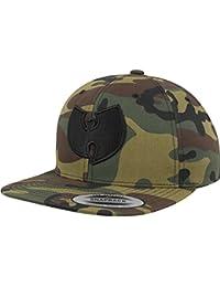 Wu-Wear Snapback Cap - LOGO wood camo