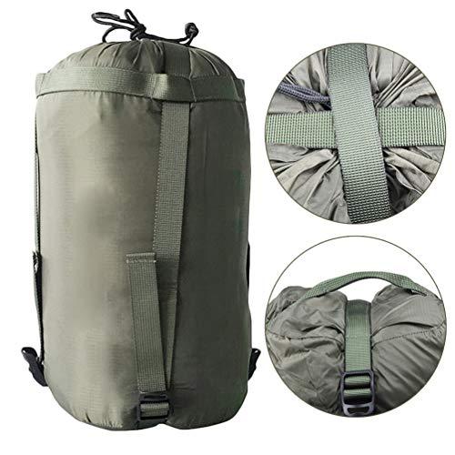 CANAVA Kompressionssäcke Tasche Tragbar Dunkelgrün Wasserdichter Schlafsack Sachen Aufbewahrungstasche Kleinigkeiten Finishing Bag für Kleidung Quilt Outdoor-Aktivität