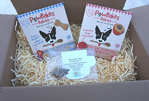 DOG TEA PARTY PICNIC BIRTHDAY PARTY PACK GIFT HAMPER WITH TEA CUPCAKE & COOKIE KITS