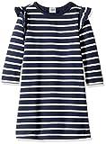 Marchio Amazon - LOOK by crewcuts, vestito in pile da ragazza, Navy/White Stripe, 16