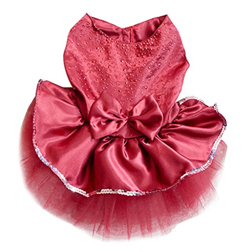 Nicholco Pet Cat Dog Gauze Princess TUTU Dress Skirt Cat Puppy Small Girl Dog Clothes