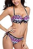 Sociala Damen Bikini mit Bügel Größe :-42 EU Farbe:-Violett