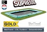 EXIT Supreme Ground Level Rectangular grün 244x427 / 10.50.14.01 / rechteckiges Bodentrampolin / 111 kg / max. Belastbarkeit: 120 kg