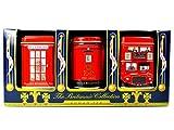 The Britannia Collection - Three Traditional English Teas in Miniature Caddie...