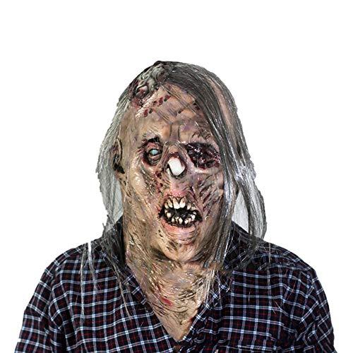 YUJJ Unheimlich Halloween Maske Monster Maske Ausgesetzt Gehirn Mit Haaren Halloween Maskerade Kostüm Requisiten Latex - Gehirn Maske Kostüm