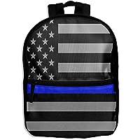 ChunLei Mochila Escolar para niños con diseño de Bandera Americana y Fina de Color Azul con
