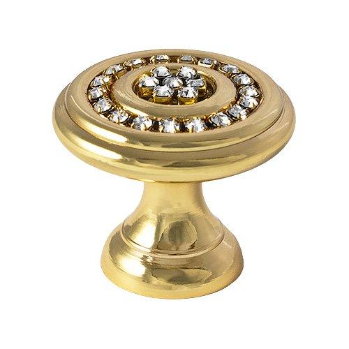 Swarovski-Zugknopf, klare Kristalle, 14mm, 36mm, 791, Gold (Kristall-gold-door Knob)