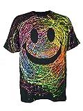 PSYWORK Schwarzlicht T-Shirt Neon GRIN Unisex Black, Gr. L