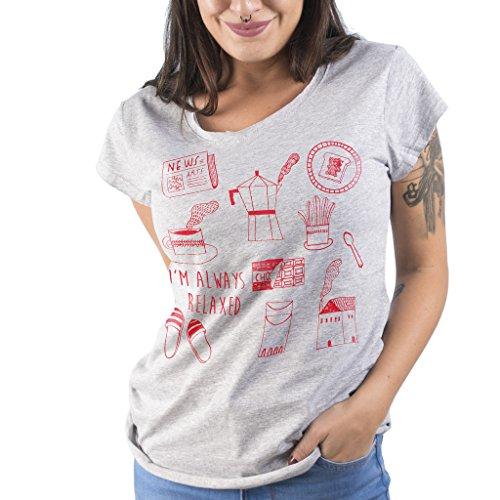 T-Shirt SUNDAY MORNING - Marinetti by Mush Grigio
