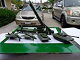 #5: Russian Military Metal Die Cast Vehicle Set 2 Mig Jetfighter And 2 Tanks And Long Range Rocket And Luncher 6 Pieces Playset