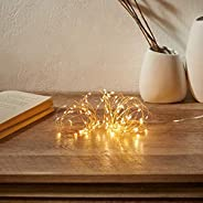 Amazon Brand - Solimo 10 Metre 100 LED Copper String Light for Decoration, Battery Powered, Warm White