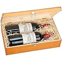 Doble Botella, Caja de Regalo de Lujo de madera para Vino, Cava o Whisky